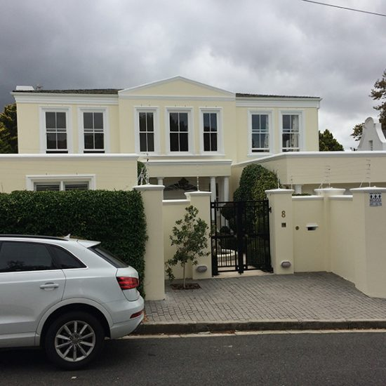 House White - Exterior House - Painting Project in Claremont Cape Town